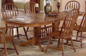 Double Pedestal Dining Room Table